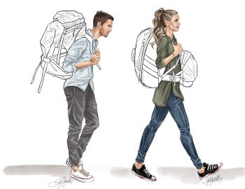 Comparison - Traditional Backpack vs. Kosan Backpack